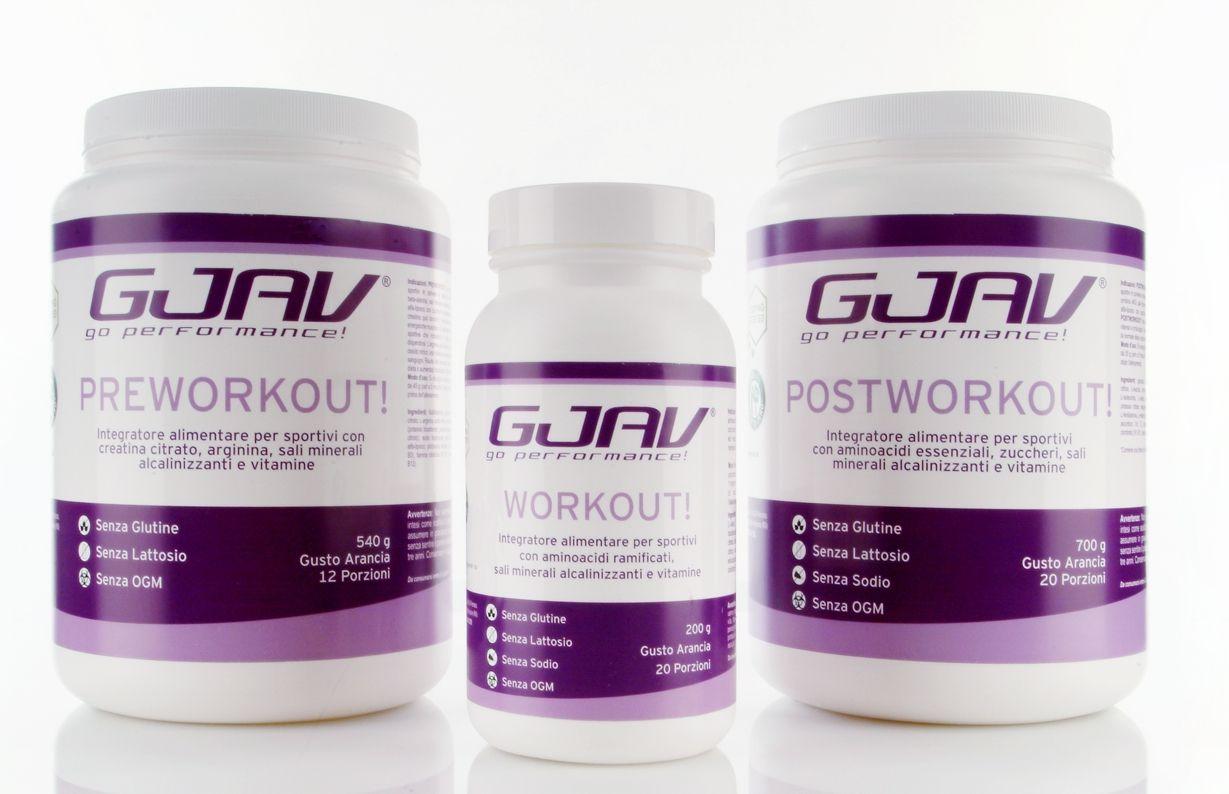 gjav preworkout! workout! postworkout!