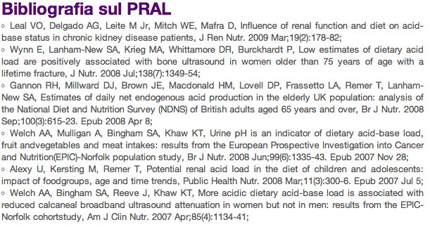 pral bibliografia pral acidosi renale