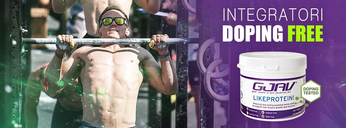 integratori doping free Likeprotein! GJAV