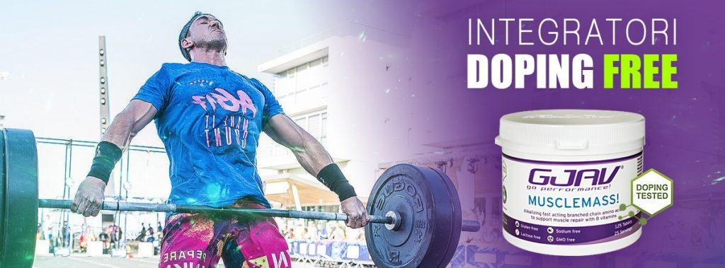 integratori doping free Musclemass! GJAV
